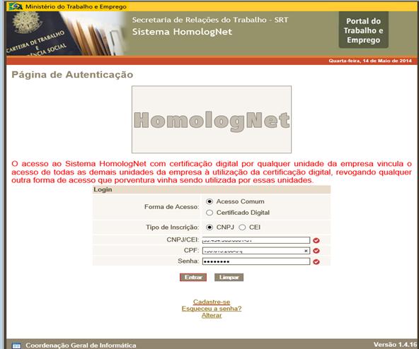 homolognet-cadastro 2019